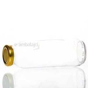 250ml Cam Şişe ve Gold Kapak