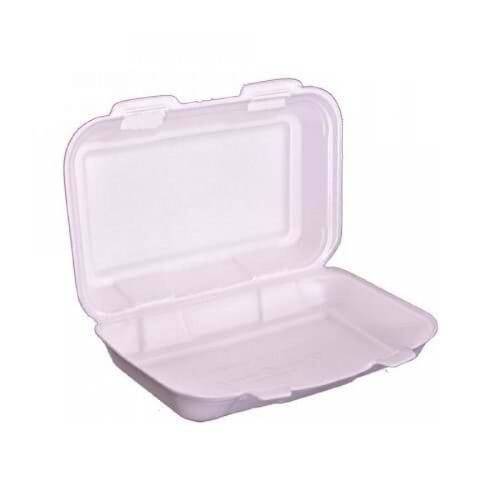 Köpüksan Beyaz Kapaklı Sandviç Kabı (K36D) 125 Adet