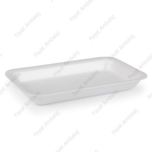 Erze Beyaz Büyük Boy Köpük Tabak 2000 Gramlık (Mod 16/AZ) 150 Adet Eko