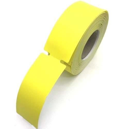 Termal Sarı Raf Etiketi Ortadan Çeltekli 100 mm x 38 mm 350 Sarım