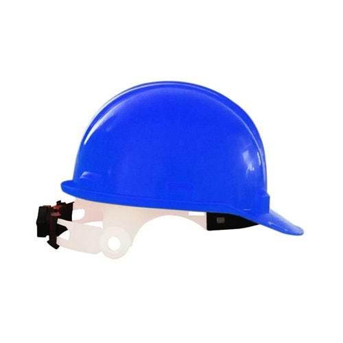 Vidalı Baret Mühendis Tipi - Mavi CE