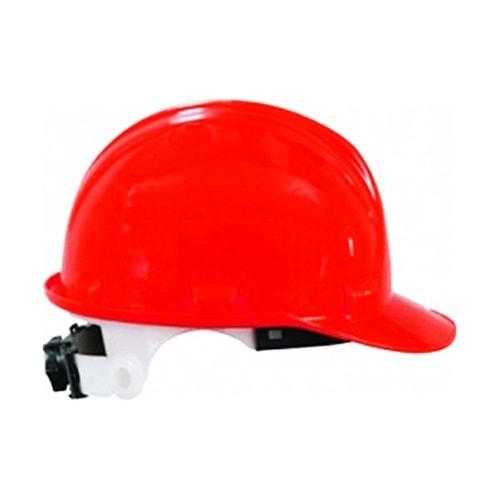 Vidalı Baret Mühendis Tipi - Kırmızı CE
