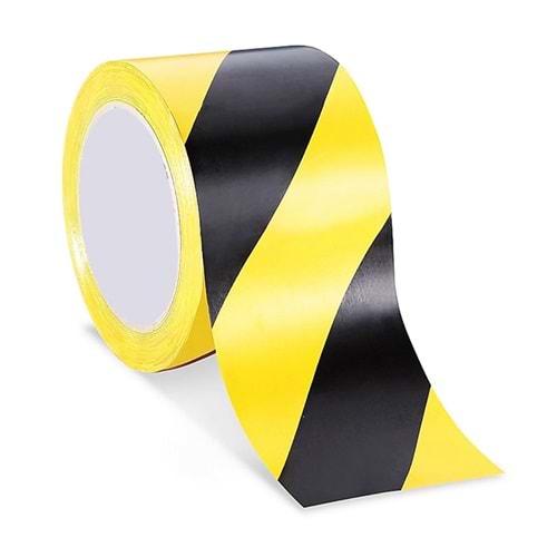 Yer İşaretleme Bandı Sarı Siyah 48 mm 20 Metre