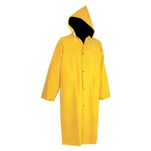 Pvc Yağmurluk Pardesü Tipi (Sarı)