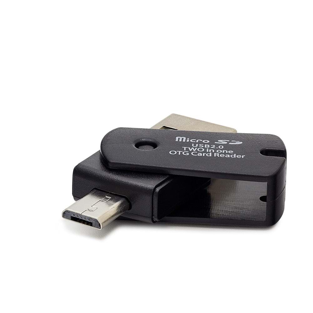 HADRON HN121 CARD READER MICRO SD & MICRO USB