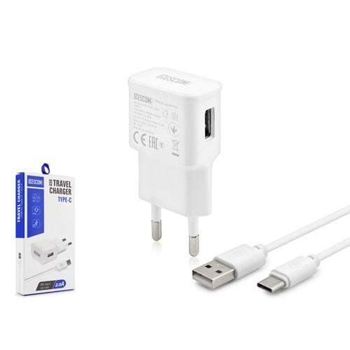 ESCOM ESC504 TYPE-C USB ŞARJ SET 2.0A