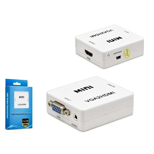 HADRON HDX1283(224) ÇEVİRİCİ VGA TO 2HDMI M/2F