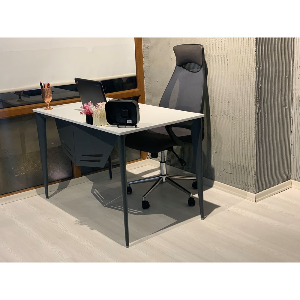 Uzay Ofis Dion Çalışma Masası - Beyaz - Antrasit